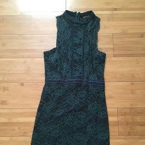 Topshop dark green dress size 2